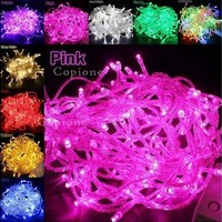 EU/US Plug 220V/110V 9colors 10M 100 LED String Fairy Lights Wedding Xmas Party Decoration [8323189377]