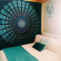 2016 Indian Mandala Tapestry Hippie Wall Hanging Tapestries Boho Bedspread Beach Towel Exercise Mat Blanket Table Cloth