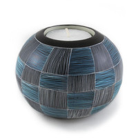 Basketweave Tealight Candle Holder