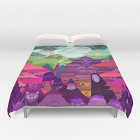 Spirited Away Duvet Cover by Jen Mundy