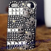 crystal studded iphone cases,skull iphone 5 cases,bling bling iphone 4 case,punk iphone 4s cover case