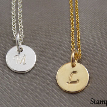 Initial Necklace Sterling Silver Necklaces & Pendants Personalized Pendant Necklaces Name Tag necklace Personalized Jewelry Gifts Gold