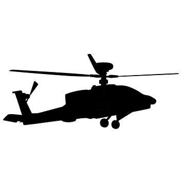Helicopter Waterproof Temporary Tattoos Lasts 3 to 4 days Choose Small, Medium or Large Sizes