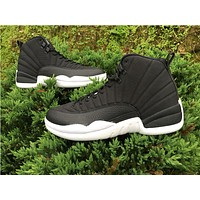 Air Jordan 12 PSNY black/while Basketball Shoes 36--47
