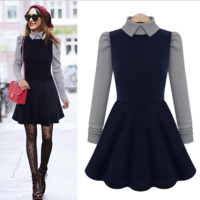 Long Sleeve Autumn A Line Dress