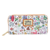 Loungefly Pokemon Types Toss Print Zip Wallet