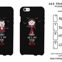 Pain in the Neck Funny Vampire Couple Phone Case - 365 Printing Inc