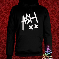 ashton irwin heppy hoodie in heppy new year and merry christmas.