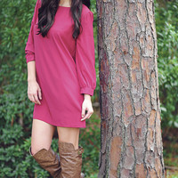 Retail Therapy Dress: Maroon | Hope's