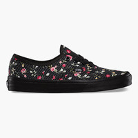 Vans Floral Dots Authentic Womens Shoes Black/Black  In Sizes