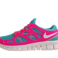 Nike Wmns Free Run 2 Bright Turquoise Flash Pink Womens Running Shoes 443816-310 [US size 7.5]