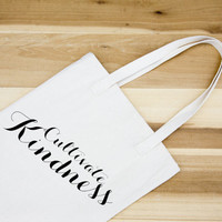 Cultivate Kindness Canvas Tote - Cotton Canvas Tote Bag - Market bag - Farmers Market bag - welcome bag - wedding gift - sweet saying