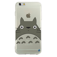 0091 My Neighbor Totoro Anime Giant Face TPU Case for iPhone 6/6s and 6/6s Plus