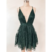 Summer Romance Dress (Hunter Green)
