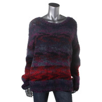 Elizabeth and James Womens Wool Knit Pullover Sweater