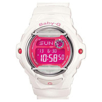 Casio BG169R-7D Women's Baby-G White Digital  Pink Dial Sports Watch