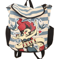 The Little Mermaid Ariel Tattoo Canvas Backpack | Hot Topic