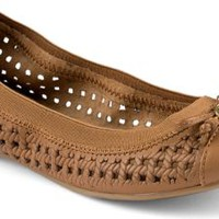 Sperry Top-Sider Elise Perforated Ballet Flat Cognac, Size 8M  Women's Shoes