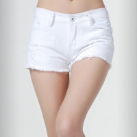 Nice quality all-match cotton denim jean shorts women, 5 colors, size 26 to 31