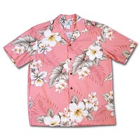 Hibiscus Joy Pink Hawaiian Cotton Shirt