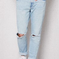 PacSun Skinny Ripped Light Wash Stretch Jeans at PacSun.com