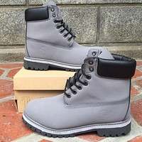 Timberland Rhubarb boots for men and women shoes waterproof Martin boots lovers grey