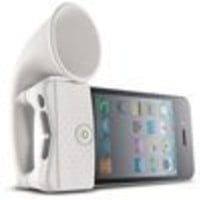 Generic Portable Speaker Horn Stand for Apple iPhone 4 GSM-CDMA - White
