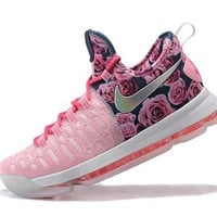 Beauty Ticks 2017 Nike Zoom Kd 9 Kevin Durant Breast Cancer Men's Basketball Shoes