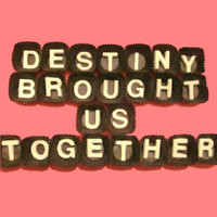Destiny Brought Us Together White Chocolate Letters - Valentines Gift for Him or Her - Made to Order