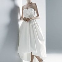 Strapless Faille with Sweetheart Draped Bodice - David's Bridal