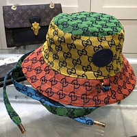 GUCCI GG letter embroidery baseball cap for men and women fisherman hat