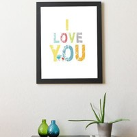 I Love You 11x14 | Children Inspire Design
