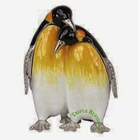 RUCINNI JEWELED PENGUIN TRINKET BOX WITH SWAROVSKI CRYSTALS