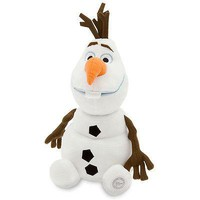 """Licensed cool Disney Store Authentic 13 1/2"""" FROZEN Plush OLAF Stuffed Toy Doll Elsa Snowman"""