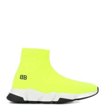 Balenciaga Kids Speed Trainers with two-tone sole Yellow Fluo