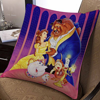 """Walt Disney Posters Beauty and the Beast pillow ---- pillow one and two side by  """"galaxyplatinum"""","""