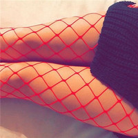 Sexy Womens Fishnet Tights Seamless Mesh Pantyhose 2017 Summer Ladies Nylon Stockings Tights Footless Fish Net Tights Collant large hole