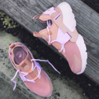 Nike Air Huarache 18 Sakura Pink Mesh And White Running Shoes