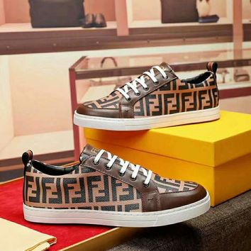 FEND  Men Casual Shoes Boots  fashionable casual leather