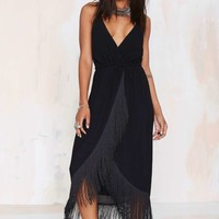 Nasty Gal Movers and Shakers Fringe Dress