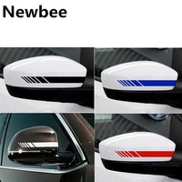 Newbee Reflective Car Sticker Decal Rearview Mirror Decoration Exterior Accessories DIY Car Styling For Benz BMW Renault Ford