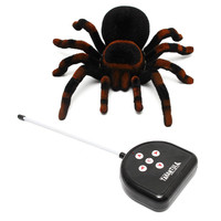 High Quality Remote Control 11'' 4CH Realistic RC Spider Scary Toy Prank Holiday Gift Model Hot Sale