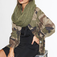 Kendall and Kylie Raw Hem Military Jacket at PacSun.com