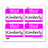 Kimberly Hello My Name Is - Sheet of 4 Stickers