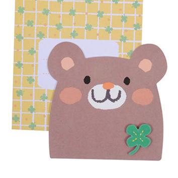 FOREVER 21 Lucky Bear Card Yellow/Brown One