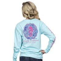 "Simply Southern ""Seahorse"" Long Sleeve Tee"