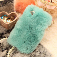 Color fur feather Iphone 4 case Iphone 4S case by lovelycasesforu