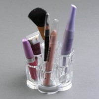 SDBING Makeup Brush Cosmetic Holder Organizer - Flower Shaped + High Quality Cleaning Cloths