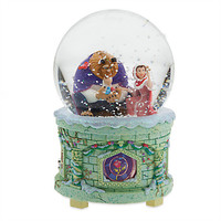 Disney Store Beauty and The Beast Musical Light Up Snowglobe New with Box