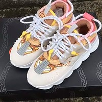 Versace heavy-soled lace sneakers Sneaker Dad shoes Pink